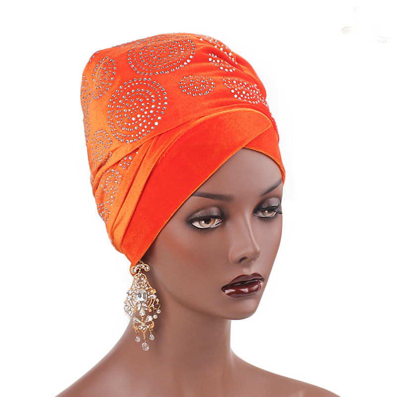 Doris_Nigerian_Head_wrap_Headwear_Head_covering_Headscarves_Orange