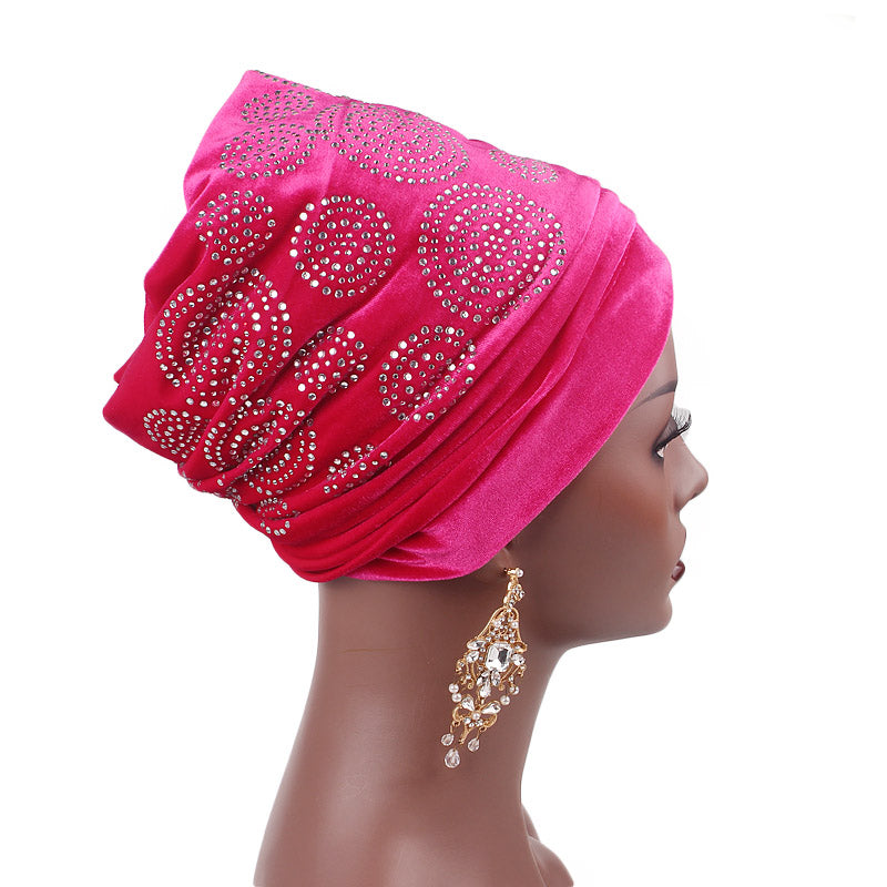 Doris_Nigerian_Head_wrap_Headwear_Head_covering_Headscarves_Red_rose-2