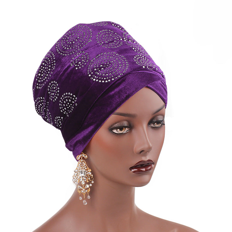 Doris_Nigerian_Head_wrap_Headwear_Head_covering_Headscarves_Purple