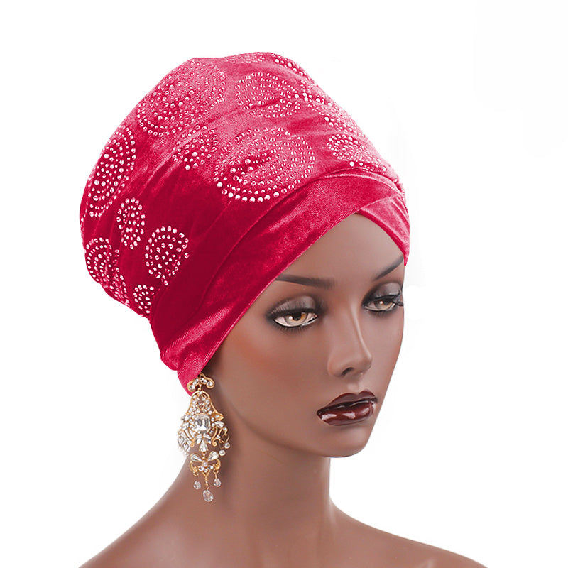 Doris_Nigerian_Head_wrap_Headwear_Head_covering_Headscarves_Red_rose