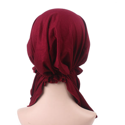 Eleanor_classic_Bandanna_Cancer_hat_Chemo hat_Beanie_Red_wine-2