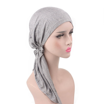Eleanor_classic_Bandanna_Cancer_hat_Chemo hat_Beanie_modest fashion_headcovers_Gray