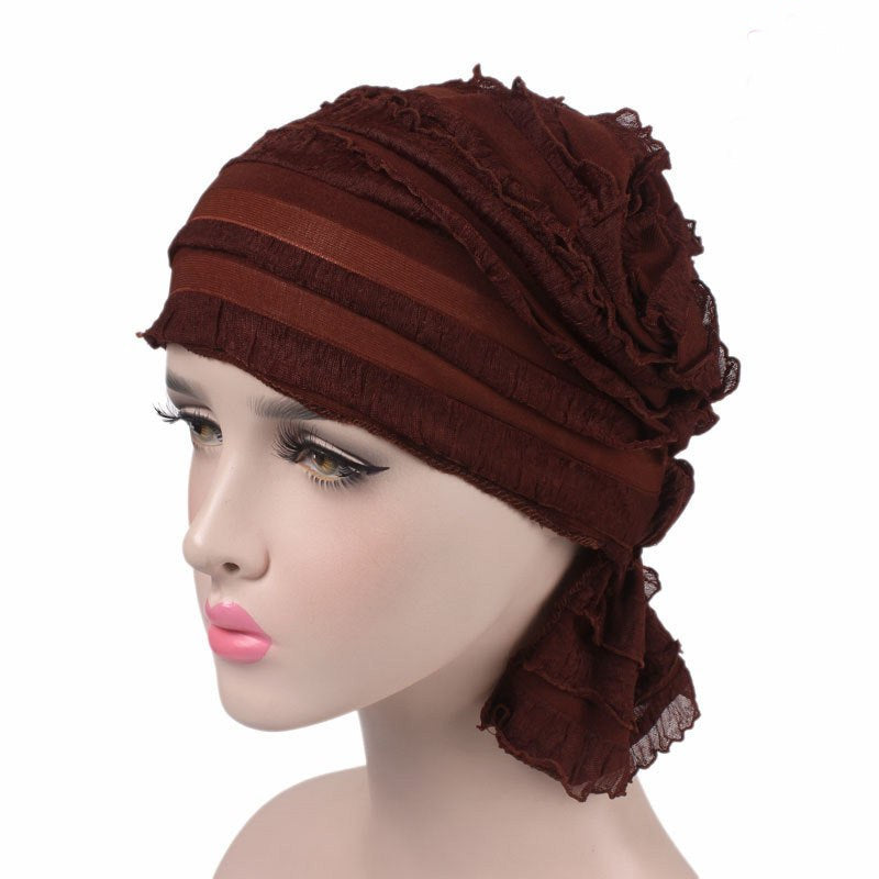 Emma Bandana_classic_Bandanna_Cancer_hat_Chemo hat_Modest_Beanie_Wine_red
