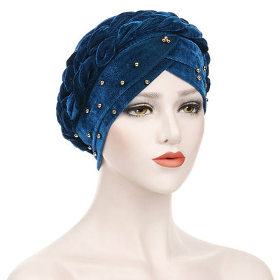 Faith Braided Headwrap Basic Headscarf Headwear Head covering Hijab Chemo Hat Pre-tied Teal