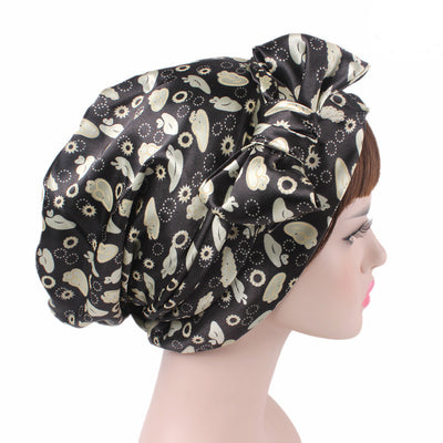 Felicia headscraf modest fashion mall bandannas headwear black + beige