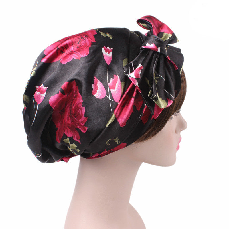 Felicia headscraf modest fashion mall bandannas headwear black flower