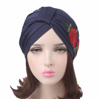 Turban, Turbans, Head covering, Modest, Blue patch turban