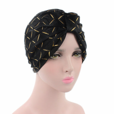 Geometric Mesh Turban_Turbans_Head_covering_Modest_Headcovres_Black