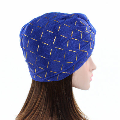 Geometric Mesh Turban_Turbans_Head_covering_Modest_Headcovres_Blue