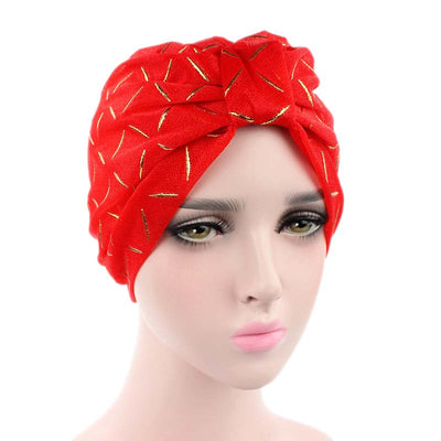 Geometric Mesh Turban_Turbans_Head_covering_Modest_Headcovres_Red