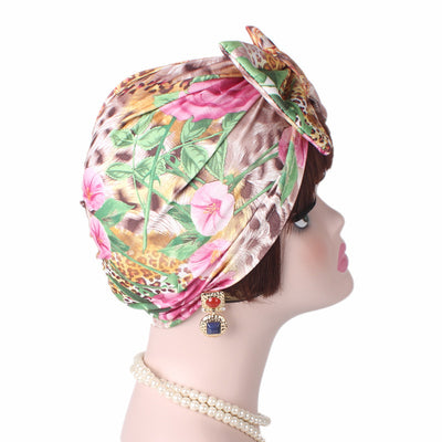 Gorgeous_Bow_Turban_Turbans_Head_Covering_Headwrap_Headcovers_Pink