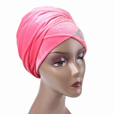 Hadeal Headscarf_Head wear_Head covering_Headscarves_Head wraps_Pink
