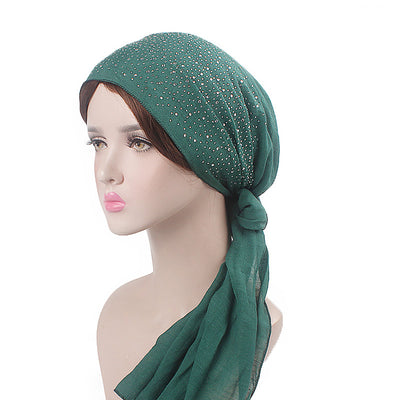 Helen Cotton Bandanna_Headwrap_Cancer hat_Chemo hat_Beanie_Hijab_Green-2