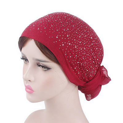 Helen Cotton Bandanna_Headwrap_Cancer hat_Chemo hat_Beanie_Hijab_Red-4