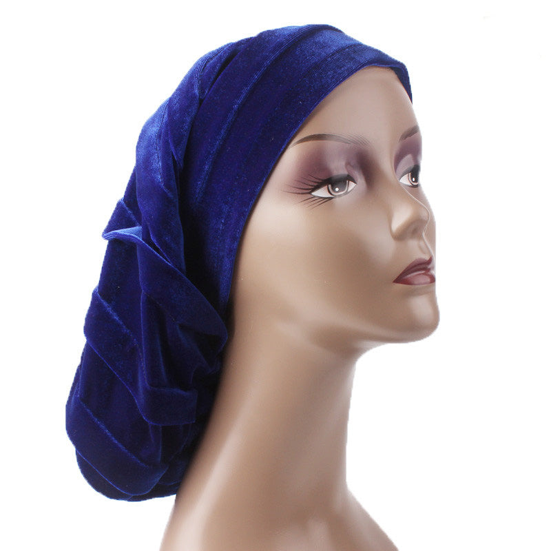 Janet African Hat_Head covering_Buggy hat_Cap_Turban_Modest_Blue