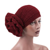 Jewel Shimmer Turban_Head covering_Head wrap_Flower_Shiny_Headcovers_Fancy_Wine