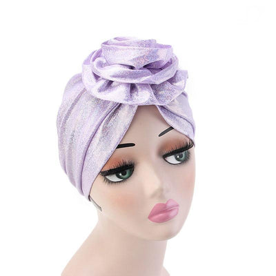 Jo Shiny Flower Turban