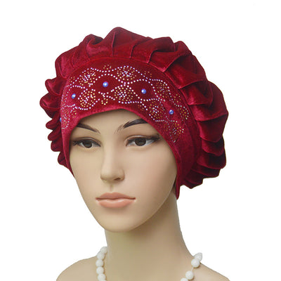 Joan Baggy Hat_African Hat_Head covering_Cap_Beanies_Rasta hat_Red