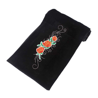 King Flower Head Wrap_Headscarf_Headwear_Head covering_Headscarves_Black