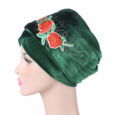 King Flower Head Wrap_Headscarf_Headwear_Head covering_Headscarves_Green