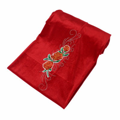 King Flower Head Wrap_Headscarf_Headwear_Head covering_Headscarves_Red