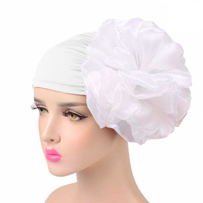King_flower_turban_Head_covering_Modest_Headcovres_Elegant_Chemo hat_Cancer hat_Fancy_Wine_White-2