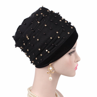 Long Head Wrap_Headscarf_Head wear_Head covering_Headscarves_Head wraps_Black