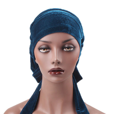 Madison_Ruffle_Bandanna_Turban_Bandanna_Cancer hat_Chemo hat_Beanie hat_Teal-2