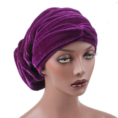 Madison_Ruffle_hat_Turban_Bandanna_Cancer hat_Chemo hat_Beanie hat_Purple-2