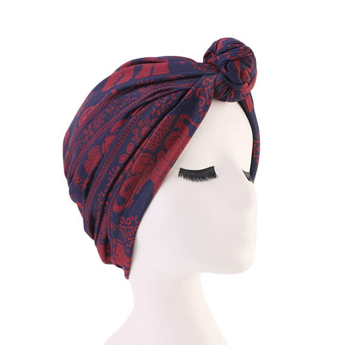 Mila Twist Turban Buy Online Headwrap For Work Bohemian African Headcovering  Muslim Hijab For Woman Hair Accessories Chemo Hat-Burgundy