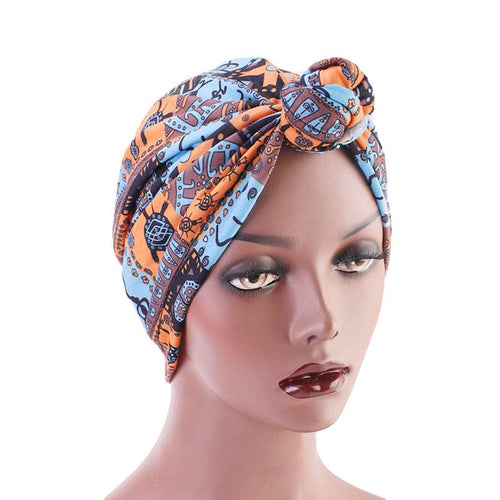 Mila Twist Turban Buy Online Headwrap For Work Bohemian African Headcovering  Muslim Hijab For Woman Hair Accessories Chemo Hat-Orange