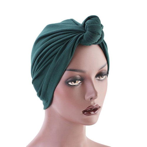 Nadia Bohemian Turban Buy Online African Headwrap Twist Headscarf Basic Hijab Chemo Cancer Hat Hair Accessories Shop Online Cotton Headcovering For Woman Women- Green-6