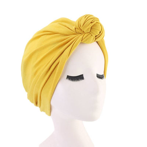 Nadia Bohemian Turban Buy Online African Headwrap Twist Headscarf Basic Hijab Chemo Cancer Hat Hair Accessories Shop Online Cotton Headcovering For Woman Women- Yellow