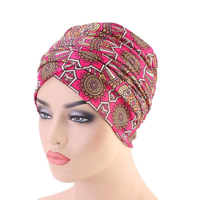 Riff Cotton Headwrap Buy Online African Headscarf Muslim Hijab Turban For Work Basic Hair Accessories Cancer Hat Cap For Sabbath Nigerian Style Headcovering-Fuchsia