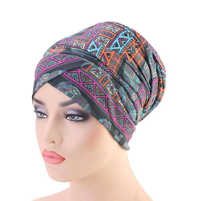 Riff Cotton Headwrap Buy Online African Headscarf Muslim Hijab Turban For Work Basic Hair Accessories Cancer Hat Cap For Sabbath Nigerian Style Headcovering-Gray
