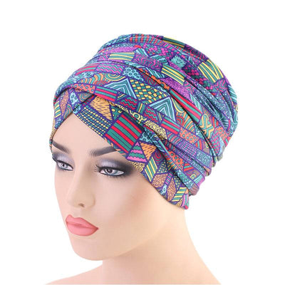 Riff Cotton Headwrap Buy Online African Headscarf Muslim Hijab Turban For Work Basic Hair Accessories Cancer Hat Cap For Sabbath Nigerian Style Headcovering-Multi