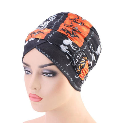 Riff Cotton Headwrap Buy Online African Headscarf Muslim Hijab Turban For Work Basic Hair Accessories Cancer Hat Cap For Sabbath Nigerian Style Headcovering-Orange-5
