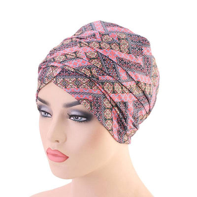 Riff Cotton Headwrap Buy Online African Headscarf Muslim Hijab Turban For Work Basic Hair Accessories Cancer Hat Cap For Sabbath Nigerian Style Headcovering-Pink