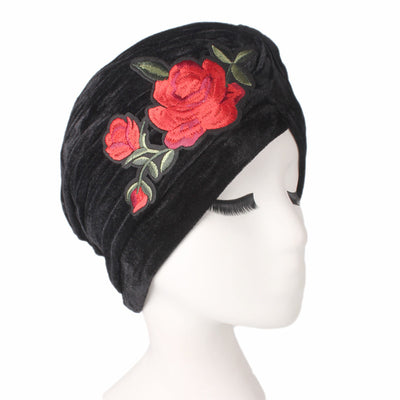 Rose_Turban_Turbans_Headcovers_Head covering_Modest_Black