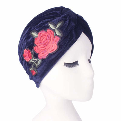 Rose_Turban_Turbans_Headcovers_Head covering_Modest_Blue