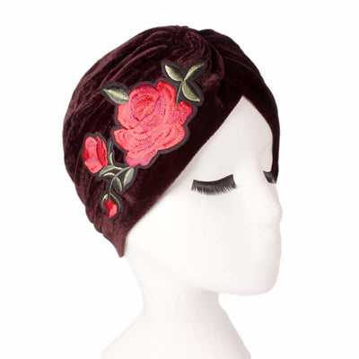 Rose_Turban_Turbans_Headcovers_Head covering_Modest_Brown