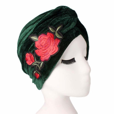 Rose_Turban_Turbans_Headcovers_Head covering_Modest_Green