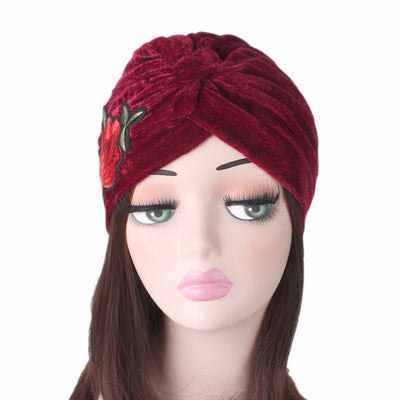 Rose_Turban_Turbans_Headcovers_Head covering_Modest_Red