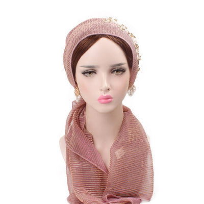 Ruth lace bandanna shop online modest fashion mall headwraps heard wraps headcovers head coverings pink-9