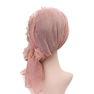 Ruth lace bandanna shop online modest fashion mall headwraps heard wraps headcovers head coverings pink-6