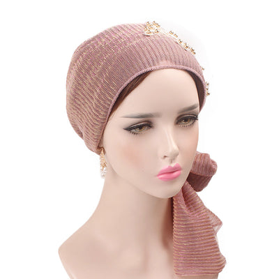 Ruth lace bandanna shop online modest fashion mall headwraps heard wraps headcovers head coverings pink-8