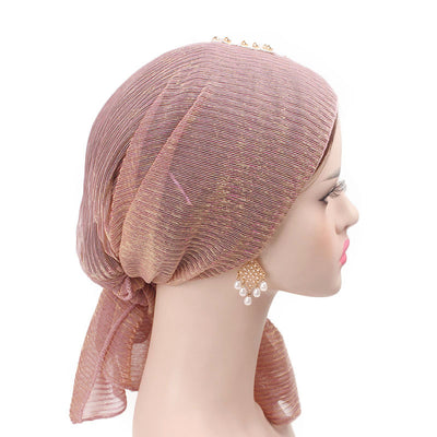 Ruth lace bandanna shop online modest fashion mall headwraps heard wraps headcovers head coverings pink-5