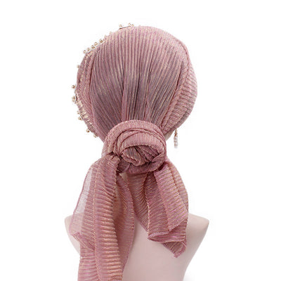 Ruth lace bandanna shop online modest fashion mall headwraps heard wraps headcovers head coverings pink-3