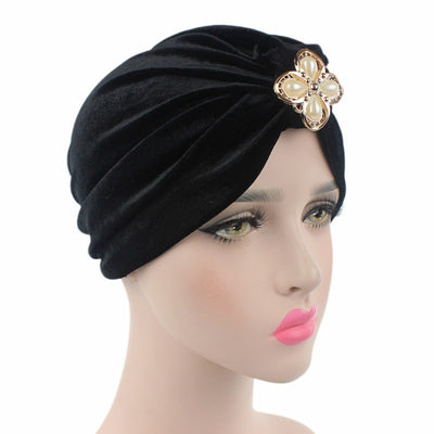 Sherry Turban_Turbans_Headcovers_Head covering_Black