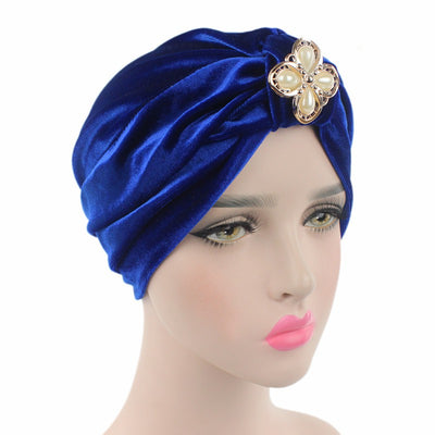 Sherry Turban_Turbans_Headcovers_Head covering_Blue